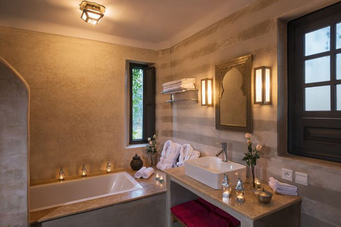 Bathroom of Garden Suite at Villa Dinar Marrakech