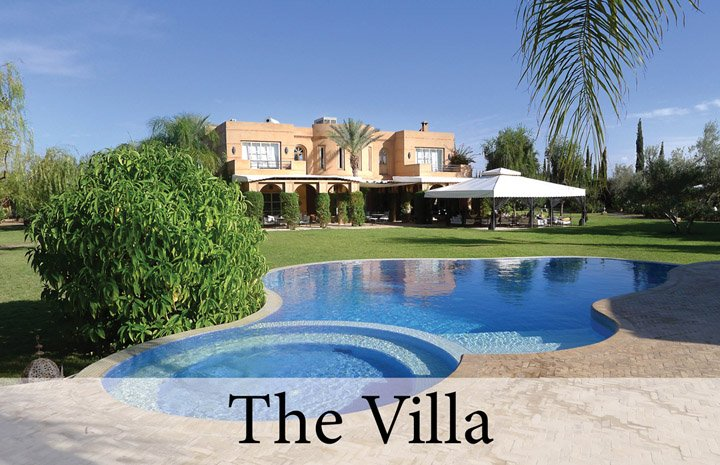 Villa Dinari house and pool, luxury villa in Marrakech