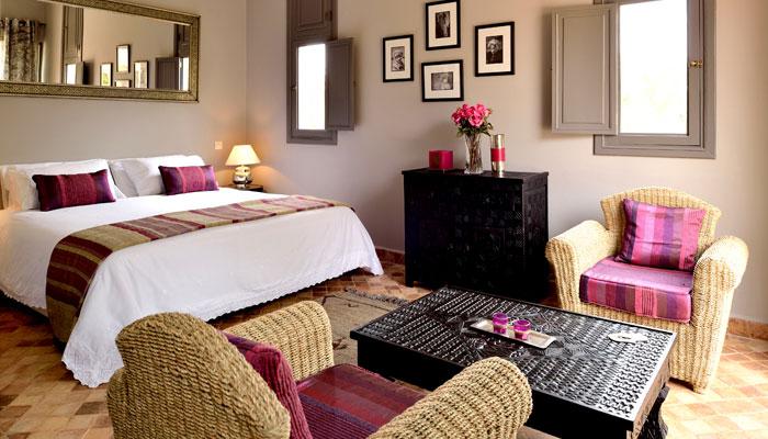 Villa Dinari's Kasbah suite, luxury villa in Marrakech