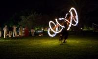 Swirling fireworks at Villa Dinari