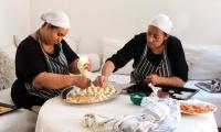 Preparing the wedding feast at Villa Dinari