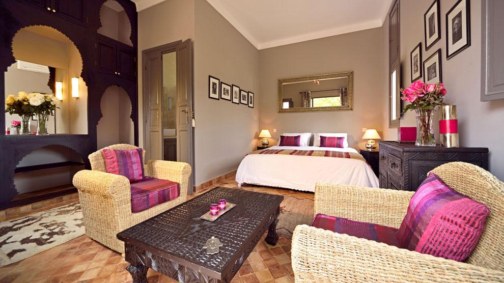 The beautiful Kasbah suite at Villa Dinari, luxury villa in Marrakech