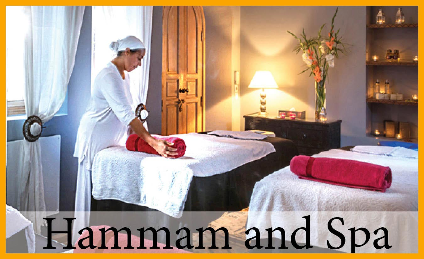 The hammam and spa at your luxury villa in Marrakech