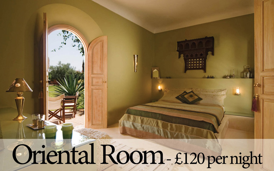 Villa Dinari's lovely Oriental Room. Luxury villa in Marrakech