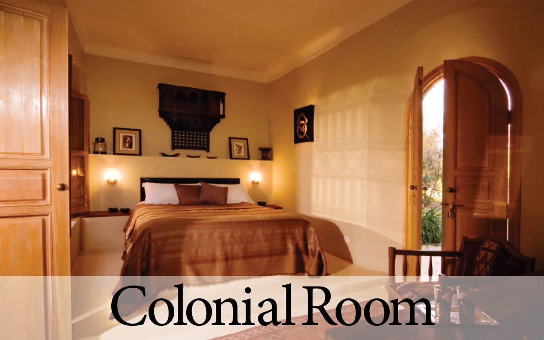 Colonial Room at Villa Dinari, luxury Marrakech villa