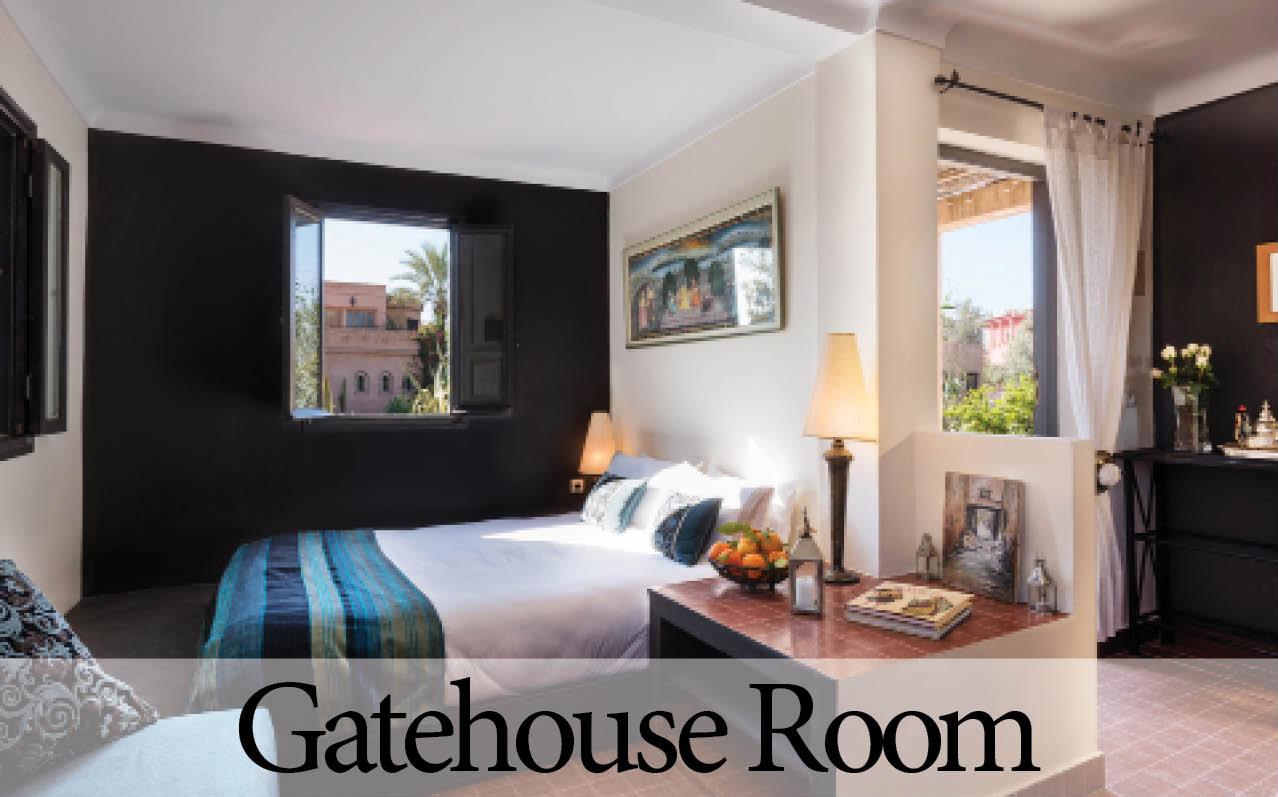 Villa Dinari's Gatehouse Room, your luxury villa in Marrakech