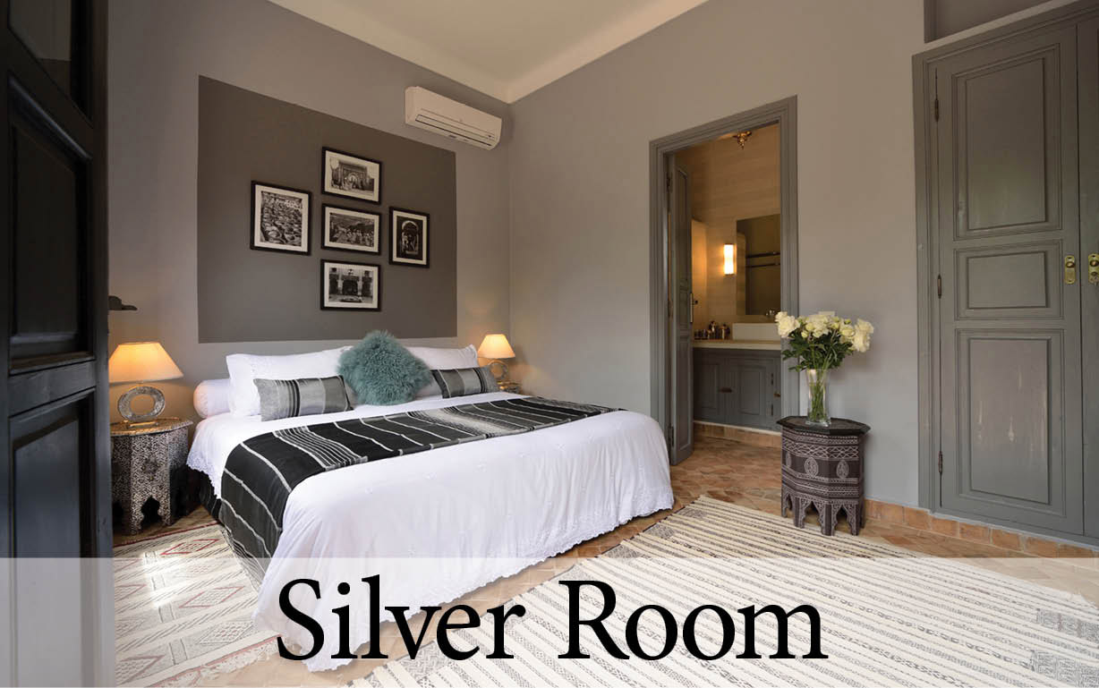 The Silver Room at your luxury villa in Marrakech