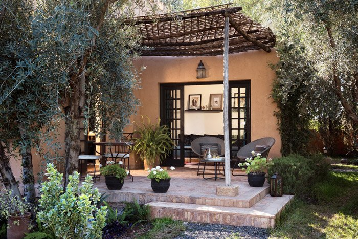 Garden suite terrace, Villa Dinari luxury accommodation in Marrakech