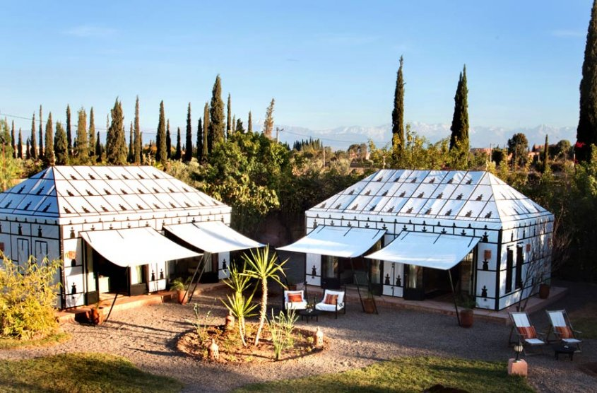 Villa Dinari luxury Glamping suite tents, Marrakech
