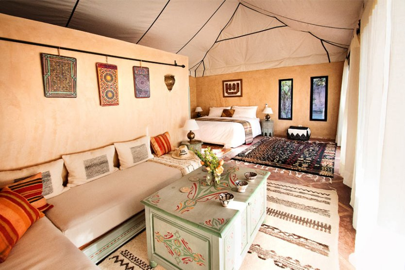 Glamping suites, luxury accommodation in Marrakech