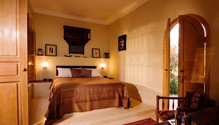 Beautiful Colonial bedroom at Villa Dinari, luxury accommodation in Marrakech, Morocco