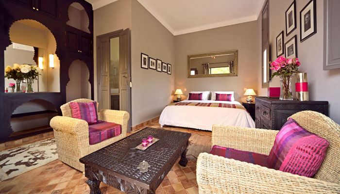 The luxurious Kasbah suite at Villa Dinari, Marrakech