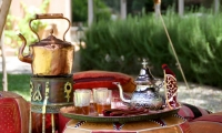 Taking mint tea at Villa Dinari, villa in Marrakech