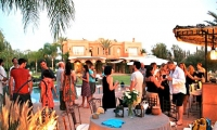 Friends getting together at luxury villa in Marrakech