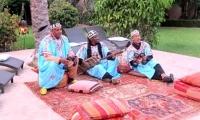 Moroccan musicians at Villa Dinari