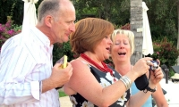 Friends celebrating at Villa Dinari