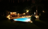 Evening chill-out time, luxury villa in Marrakech
