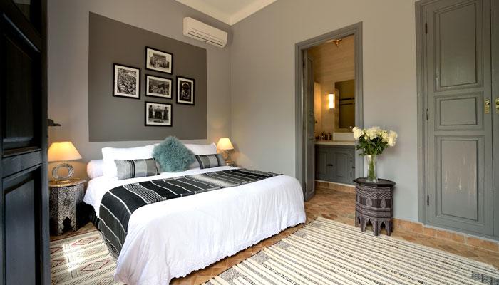 Villa Dinari Silver Bedroom, luxury villa in Marrakech