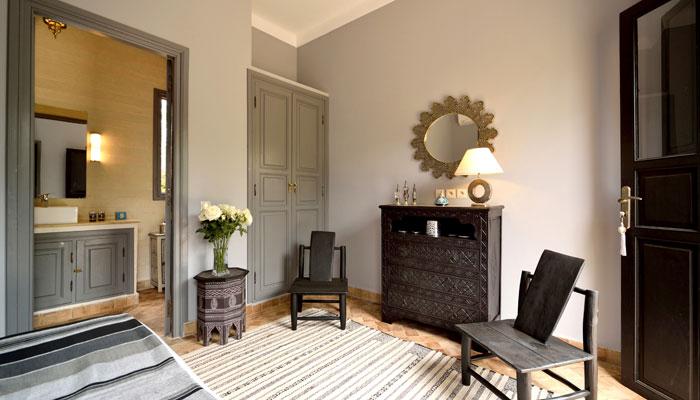 Silver Bedroom at Villa Dinari, luxury accommodation in Marrakech