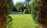 The beautiful gardens of Villa Dinari, luxury villa in Marrakech