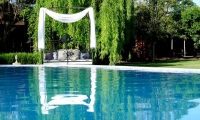 Doze by the pool at your luxury accommodtion in Marrakech