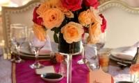 Table flowers at Villa Dinari, luxury villa in Marrakech