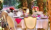 Elegant wedding dining, Villa Dinari in Marrkaech