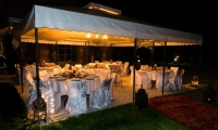 Beautiful evening wedding dinner, Villa Dinari Marrakech
