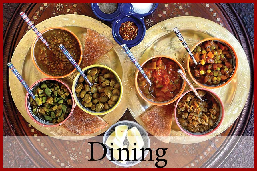 Dining at Villa Dinari, your luxury villa in Marrakech