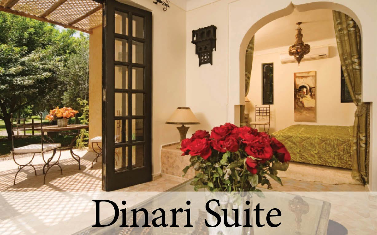 The Dinari Suite at Villa Dinari, your luxury villa in Marrakech